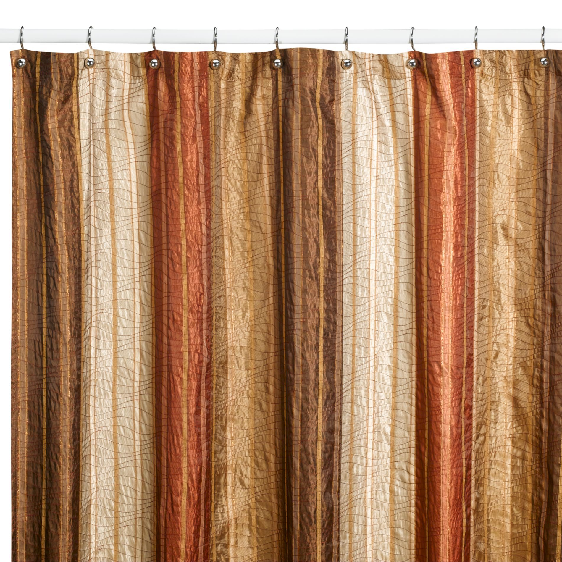 Sierra Copper Fabric Shower Curtain by Manor Hill