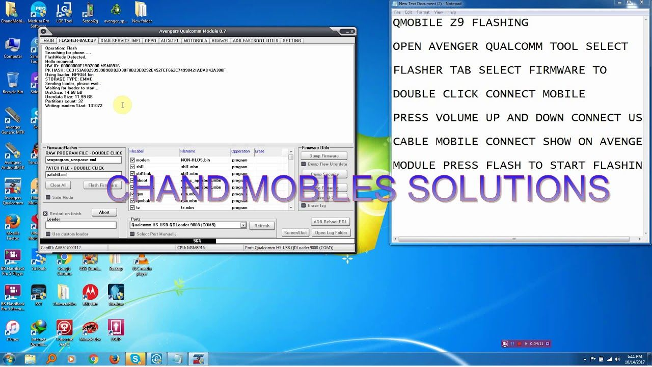 HOW TO FLASH QMOBILE Z9 5 0 WITH AVENGER QUALCOMM MODULE