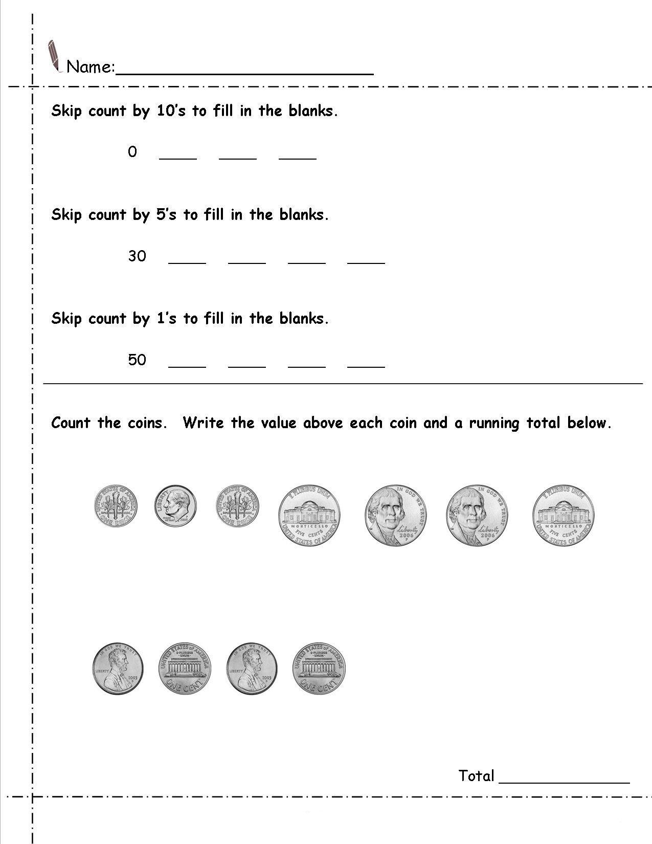 Coin Worksheets For Kindergarten In 2021 Money Worksheets Kindergarten Worksheets Printable Kindergarten Worksheets [ 1650 x 1275 Pixel ]