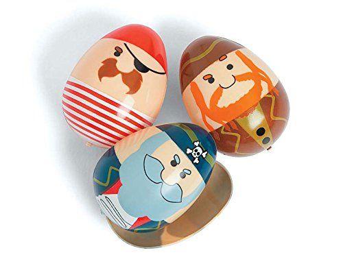 12 Jolly Pirat Befüllbar Zweiteilige Kunststoff Ostereier