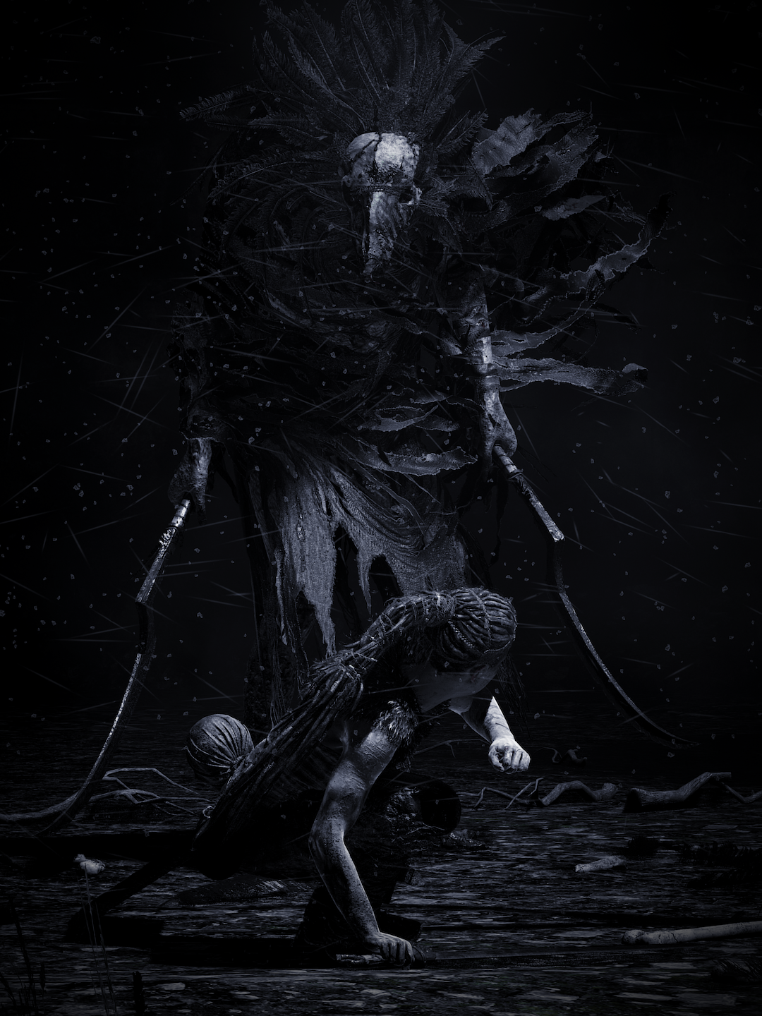 Hellblade Senua S Sacrifice Game Art Dark Fantasy Art