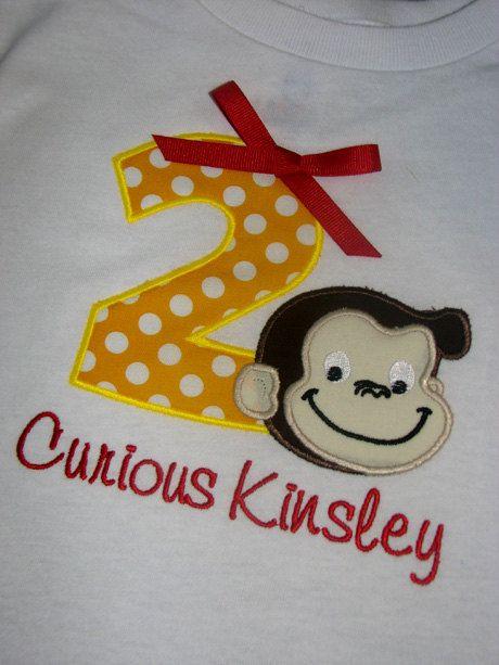 Girl Birthday shirt Girl Curious George Birthday shirt
