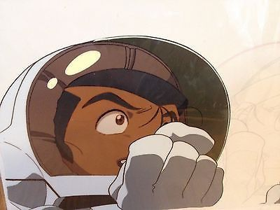 Great Hand Made Colorful Japanese Animation Cel Manga Collectible Astronaut Wow!