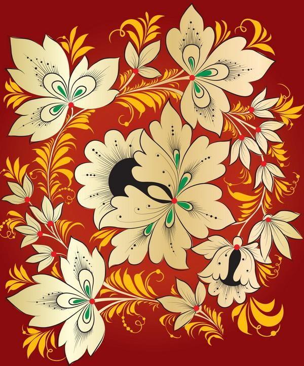 Русский орнамент и Хохломская роспись