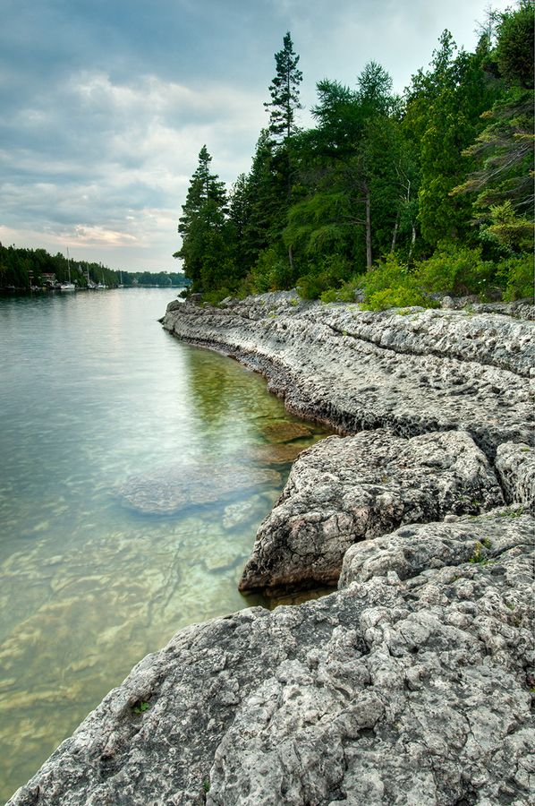 Early morning at Big Tub Harbour, Tobermory Ontario.I want ...