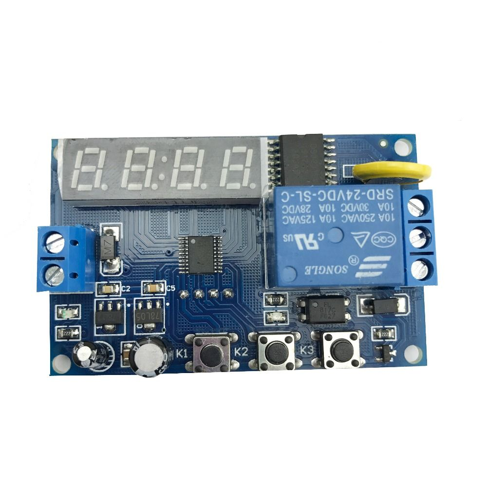 24v Relay Module Real Time Control Switch Timing Circuit Delay Board