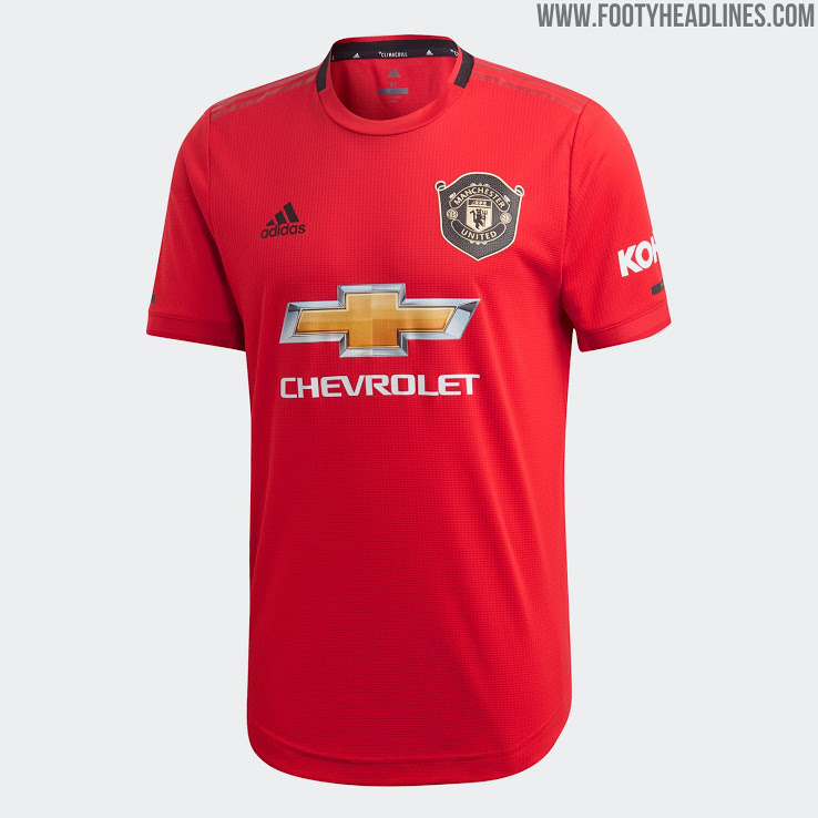 Manchester United 19 20 Home Kit Released Footy Headlines Manchester United Manchester United Logo Soccer Jersey