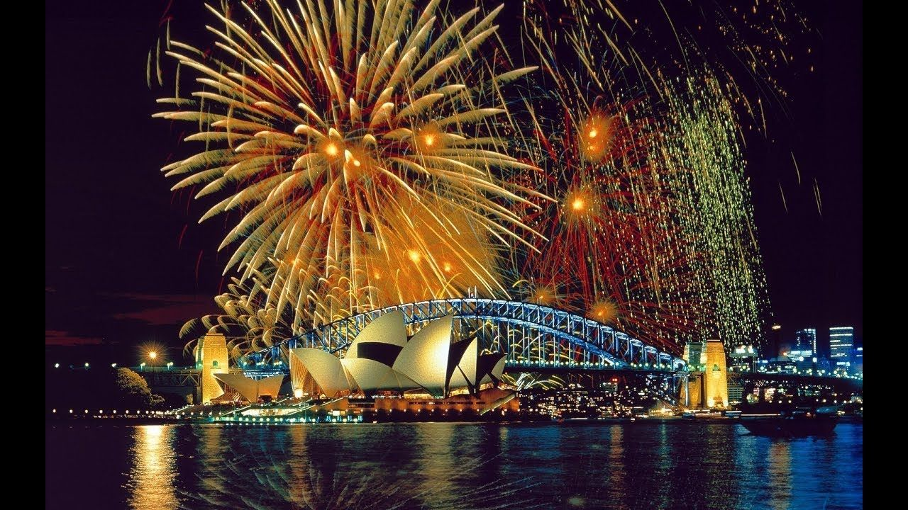 Happy New Year 2018 Sydney Australia Fireworks 2018 New