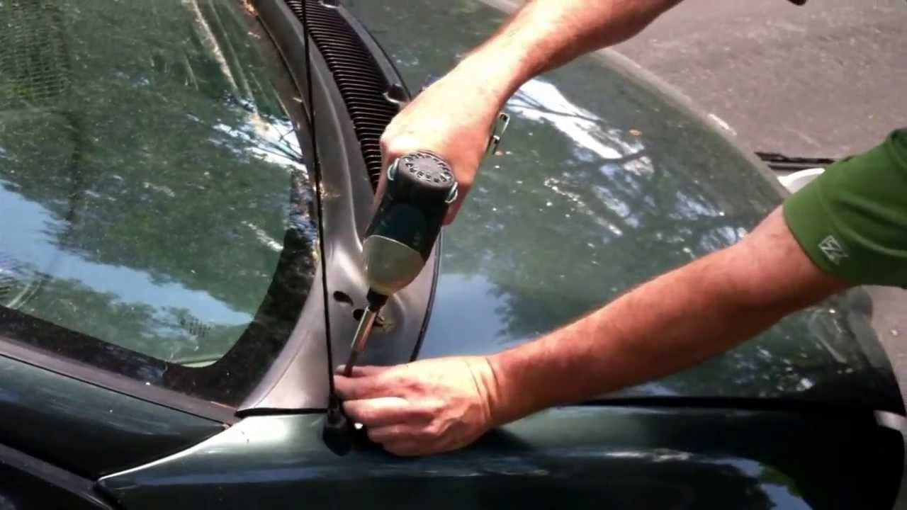 How to clean a clogged windshield drain car cleaning