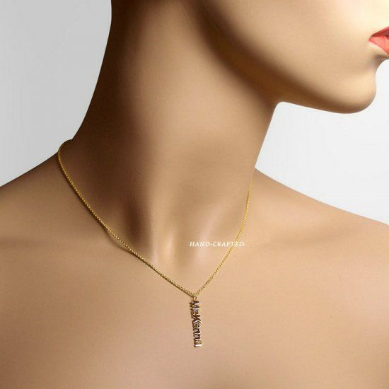 Gold engraved name pendant necklace for women. Best quality jewelry online.