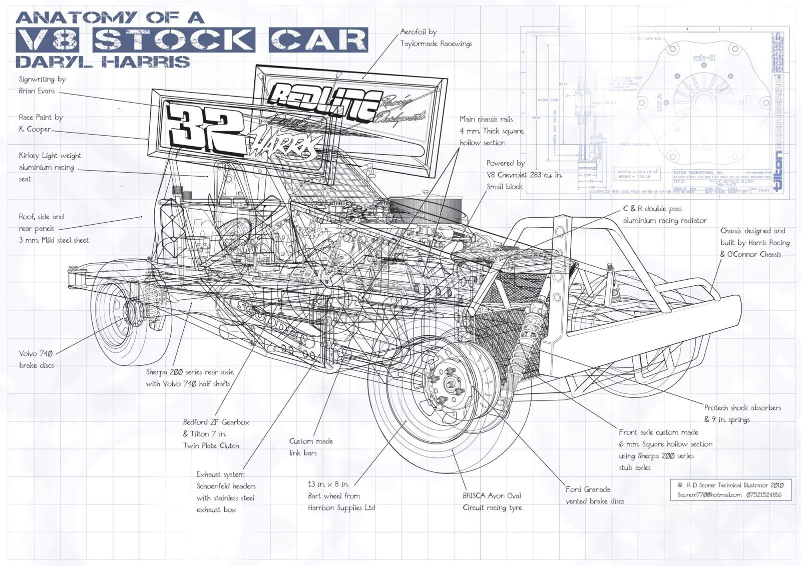 Roy Scorer is one of the world's leading technical illustrators, with his work regularly featured in Haynes Manuals, including the manuals on the Bismarck battleship, the Lotus 98T Formula One car, and the German U-Boat (various models). The British Ministry of Defence also employs Roy to create highly detailed technical drawings of various military vehicles...