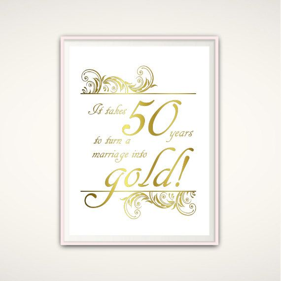 50th Anniversary Gifts For Parents 50th By FromTheRookery