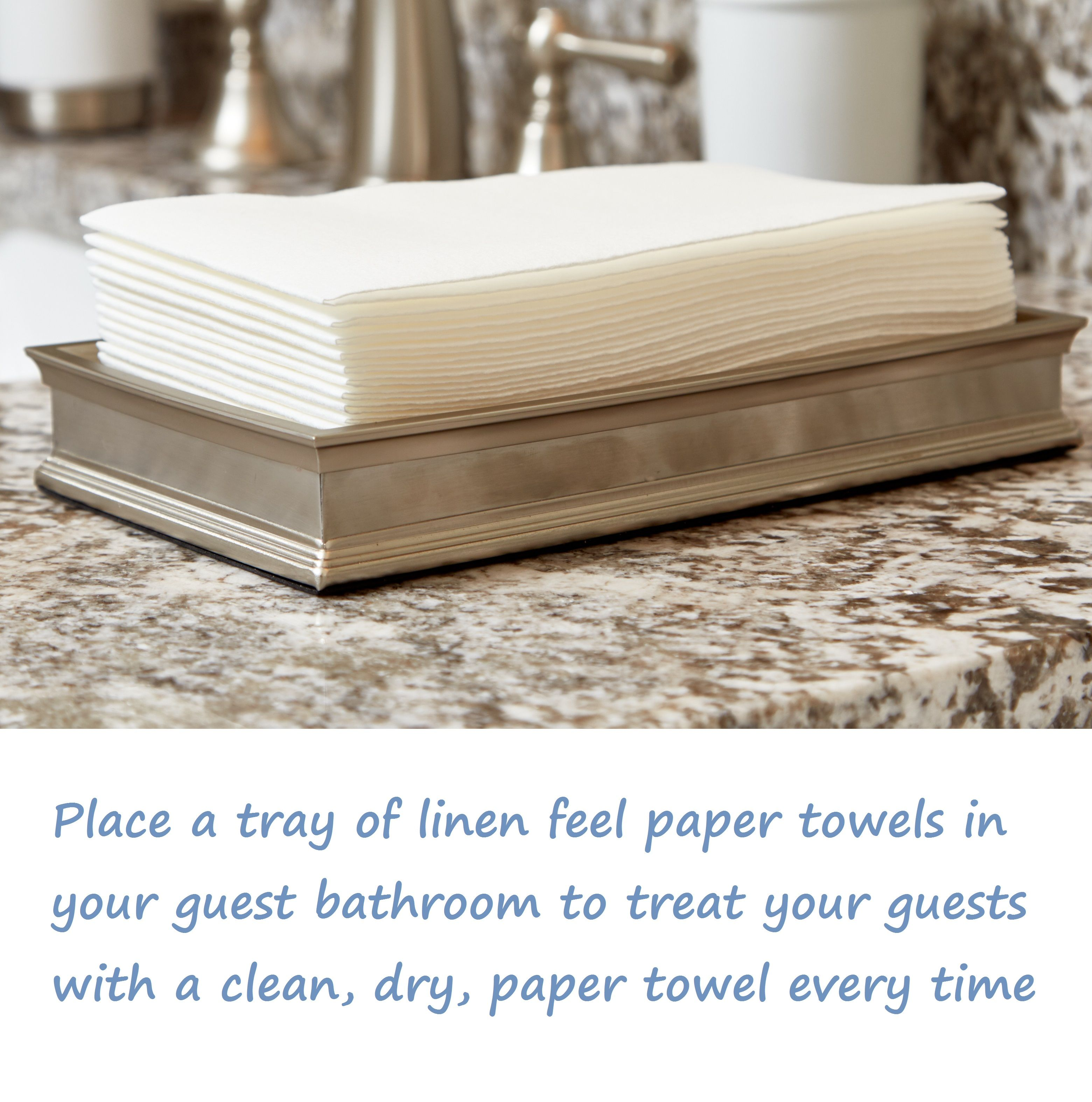 Pampering Your Guests Had Never Been Easier Just Place A Tray Of Linen Feel Paper Towels In Your Guest Bathroom And Voila No Mo Linen Feel Guest Towels Towel