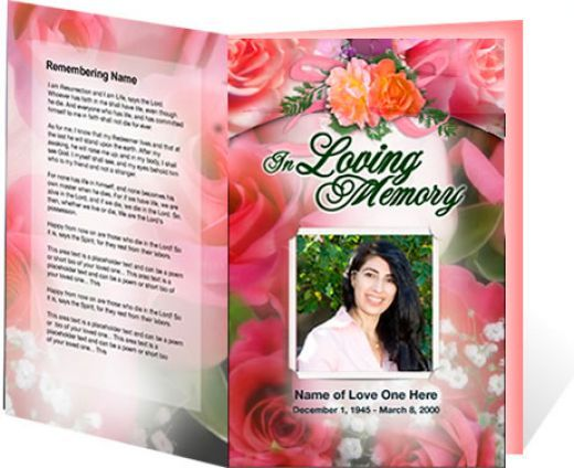 Downloadable Funeral Bulletin Covers | An Example Of A Funeral