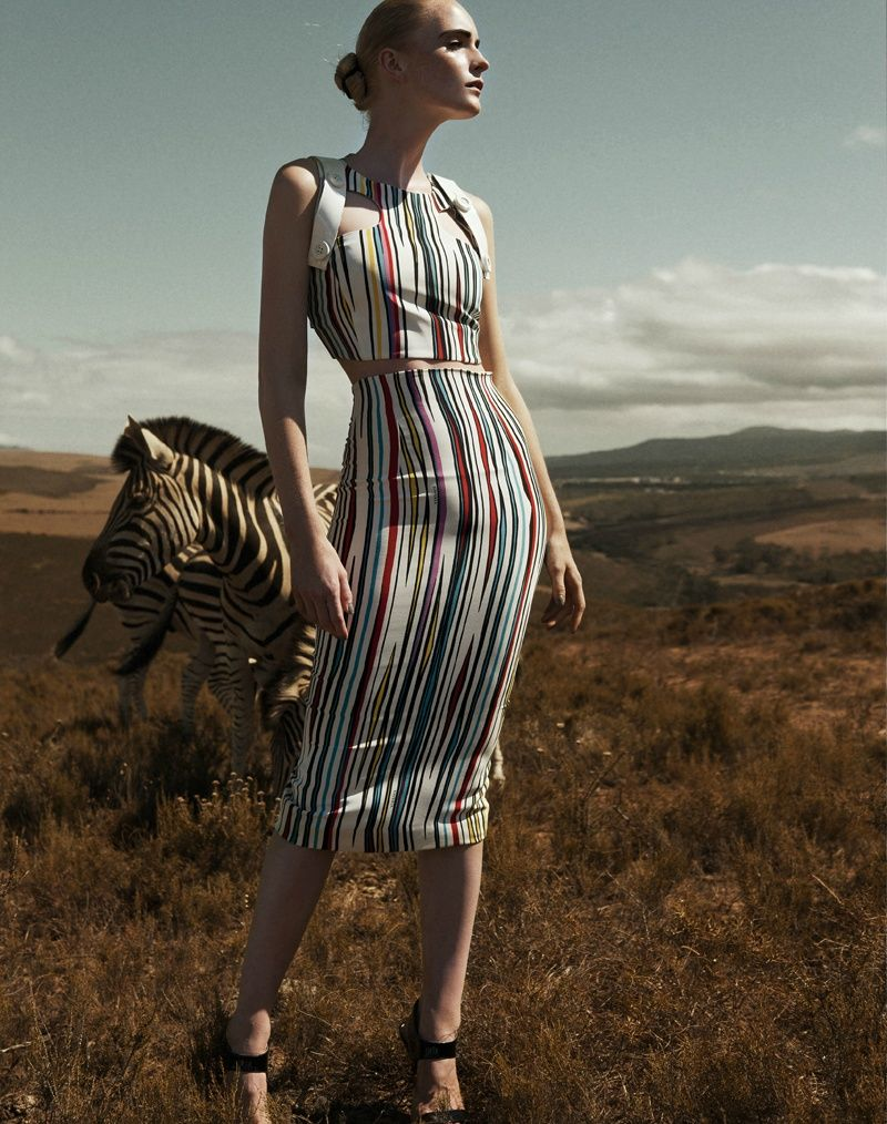 Model: Lotte Tuinstra   Photographer: Sabine Liewald - Colorful Stripes for Die Presse August 2011