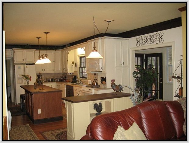 Decorating Above Kitchen Cabinets With Vaulted Ceiling