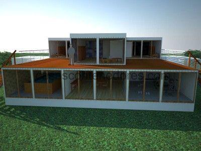 Conception du0027une grande maison de containers 5 Architecture