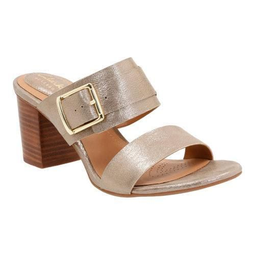 4bc2ba534236 Women s Clarks Ralene Rose Heeled Sandal Champagne Cow Full Grain Leather  by Clarks