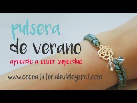 615677a441a3 Cómo hacer pulseras de plata con abalorios superduo bonitas y ...
