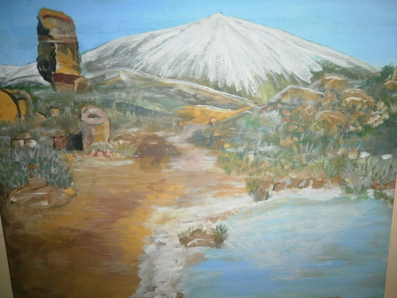 Mirian González Fagúndez  TEIDE NEVADO  Acrílico en lienzo  59X60 cm  LA GOMERA  2012