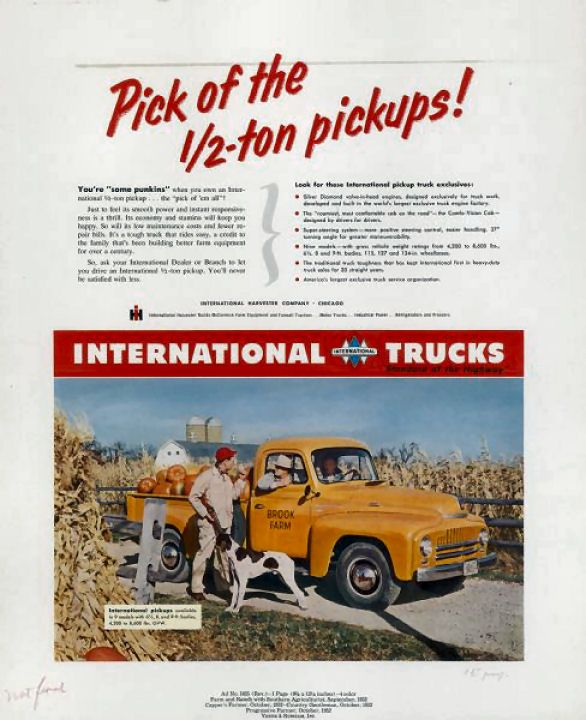 1952 International Truck Ad