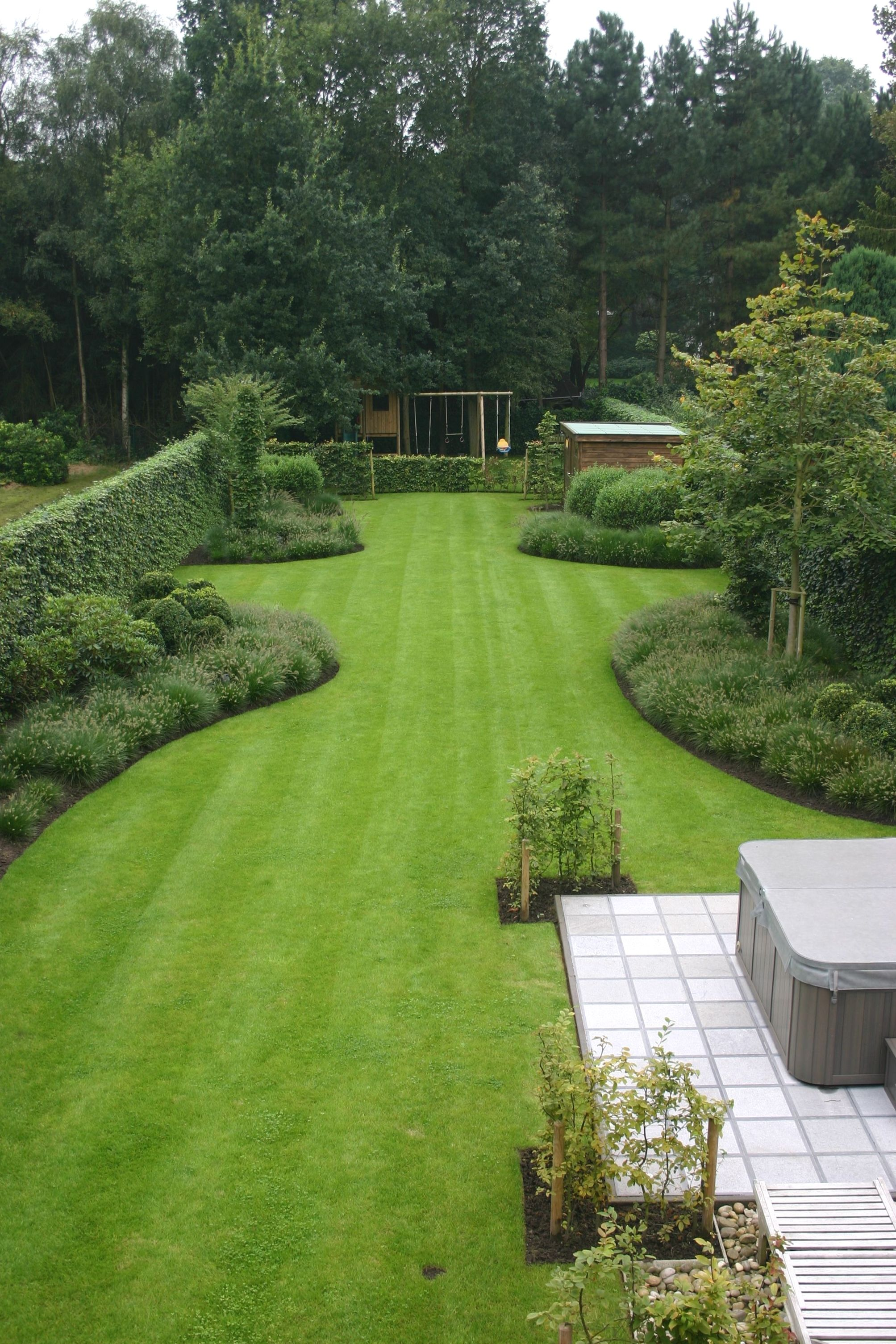 backyard landscaping on a budget pictures | Large backyard ...