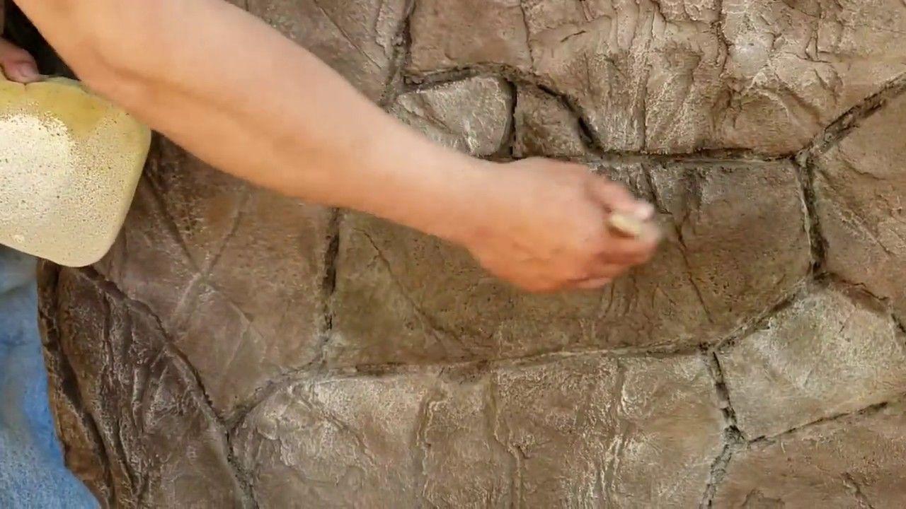 Como Hacer Piedras Planas Con Cemento Y Estampa Faux Stone Floor Molding Concrete Stone