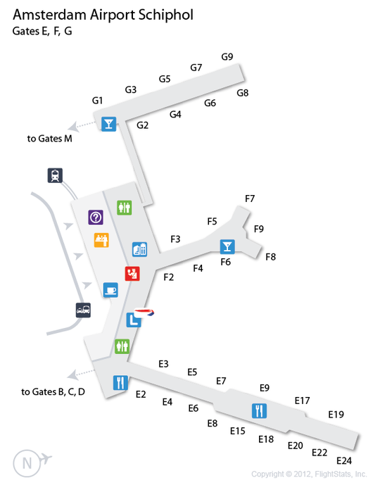 AMS Amsterdam Airport Schiphol Terminal Map airports Pinterest