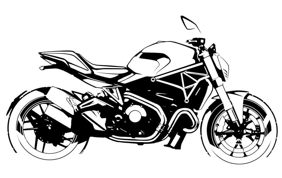 Ducati Monstere 1200 Bike And Motorcycle Sketches Pinterest