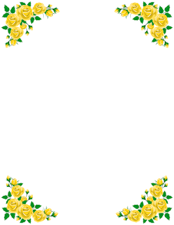 Yellow Rose Border Page Borders Pinterest Borders And Frames