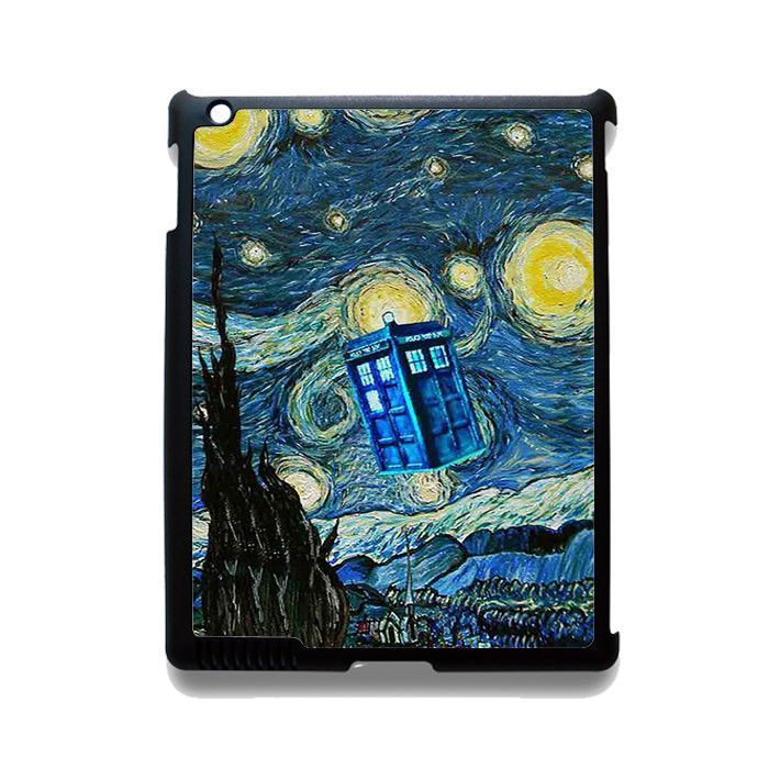 Tardis Doctor Who Starry Night TATUM-10480 Apple Phonecase Cover For Ipad 2/3/4, Ipad Mini 2/3/4, Ipad Air, Ipad Air 2