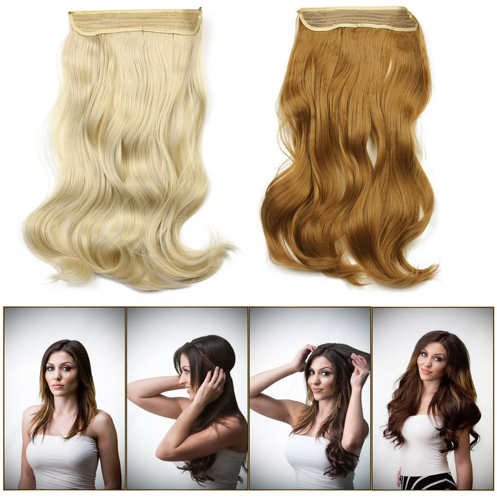 2016 New Hot 20inch 50cm 135g Wavy Hair Extensions Hairpiece Hair