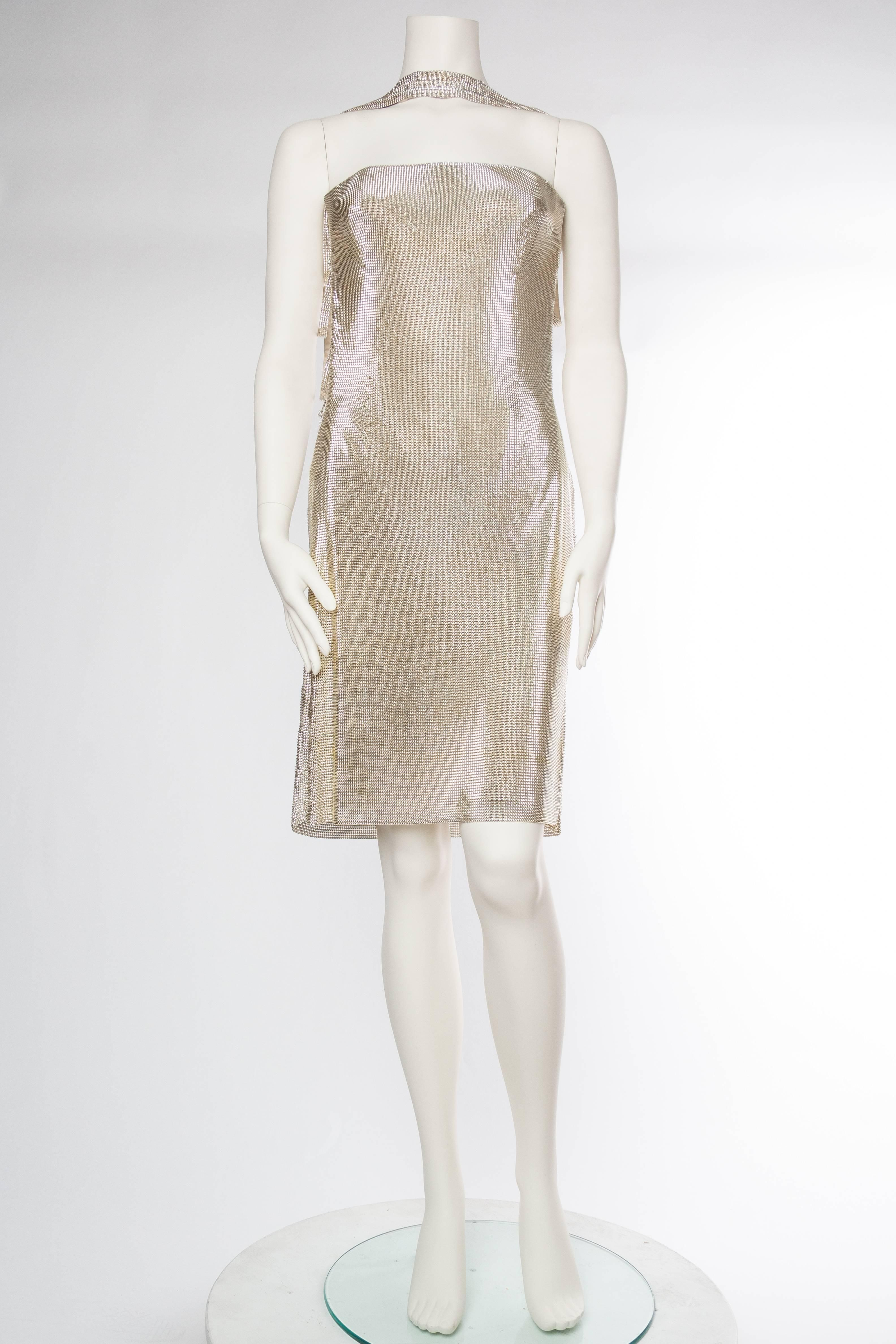 c0e1b0842b5 Gianni Versace Couture Metal Mesh Backless Dress with Crystals NWT For Sale  at 1stdibs