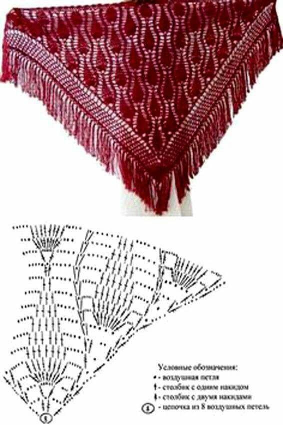 Pin de Maria Beatriz en crochet | Pinterest | Chal