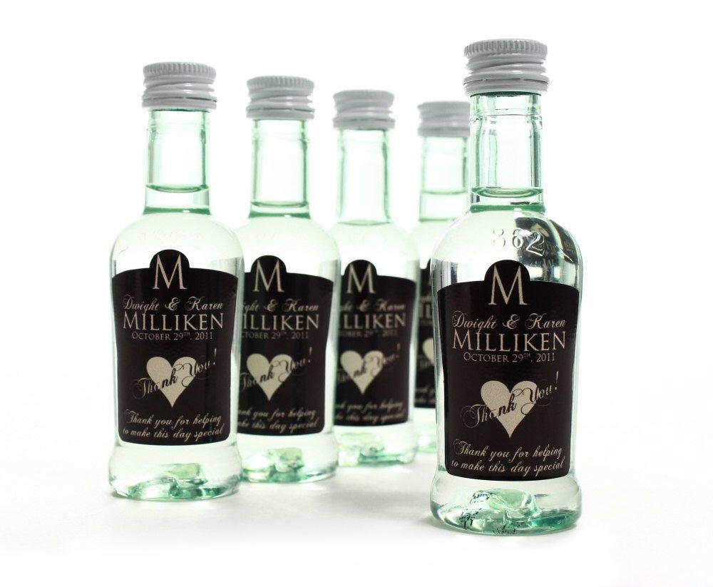 Famous Wedding Favors Mini Bottles Photos - The Wedding Ideas ...
