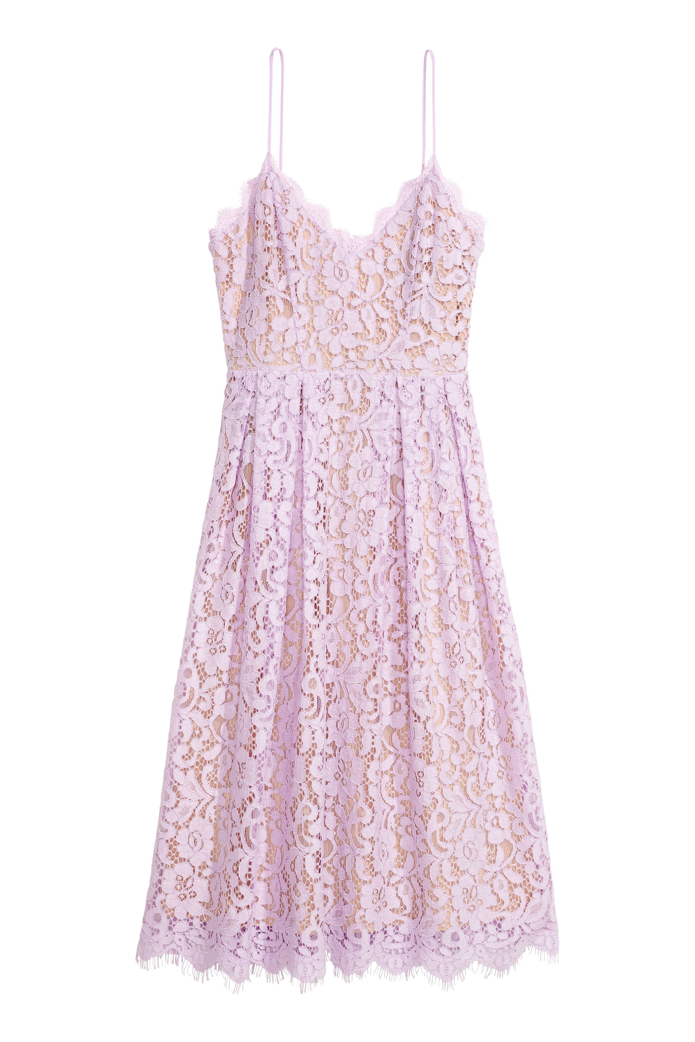 H&m lace dress white  Lace dress  Light purple Lace dress and Zip