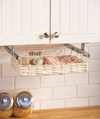 Under Cabinet Storage Baskets Don T Like The Exposed Metal Trim