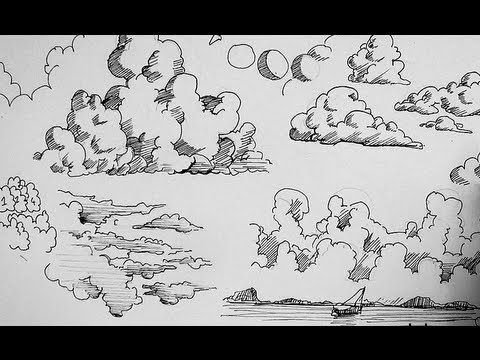 Variety Of Clouds Cloud Drawing Drawings Painting Drawing