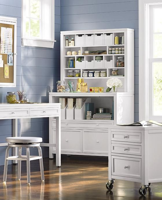 craft martha stewart furniture room storage living space office crafts table designs rooms hutch depot organization line collection tables supplies