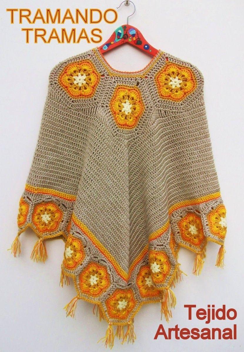 Crochet Poncho Free Pattern Best Ideas | kostenlose Muster, Hüte und ...