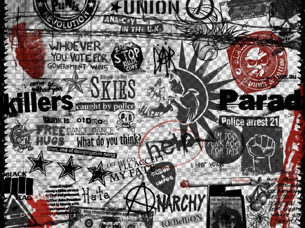 Punk Wallpaper By Ciaastek On Deviantart Cute Tumblr Wallpaper Rock Background Red And Black Wallpaper