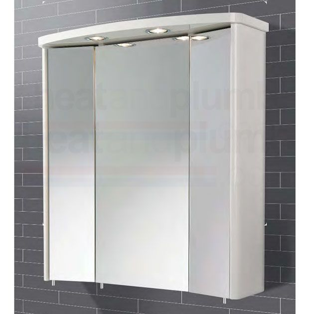 Bathroom Cabinets 700mm hib tissano illuminated bathroom cabinet 700mm high x 650mm wide x
