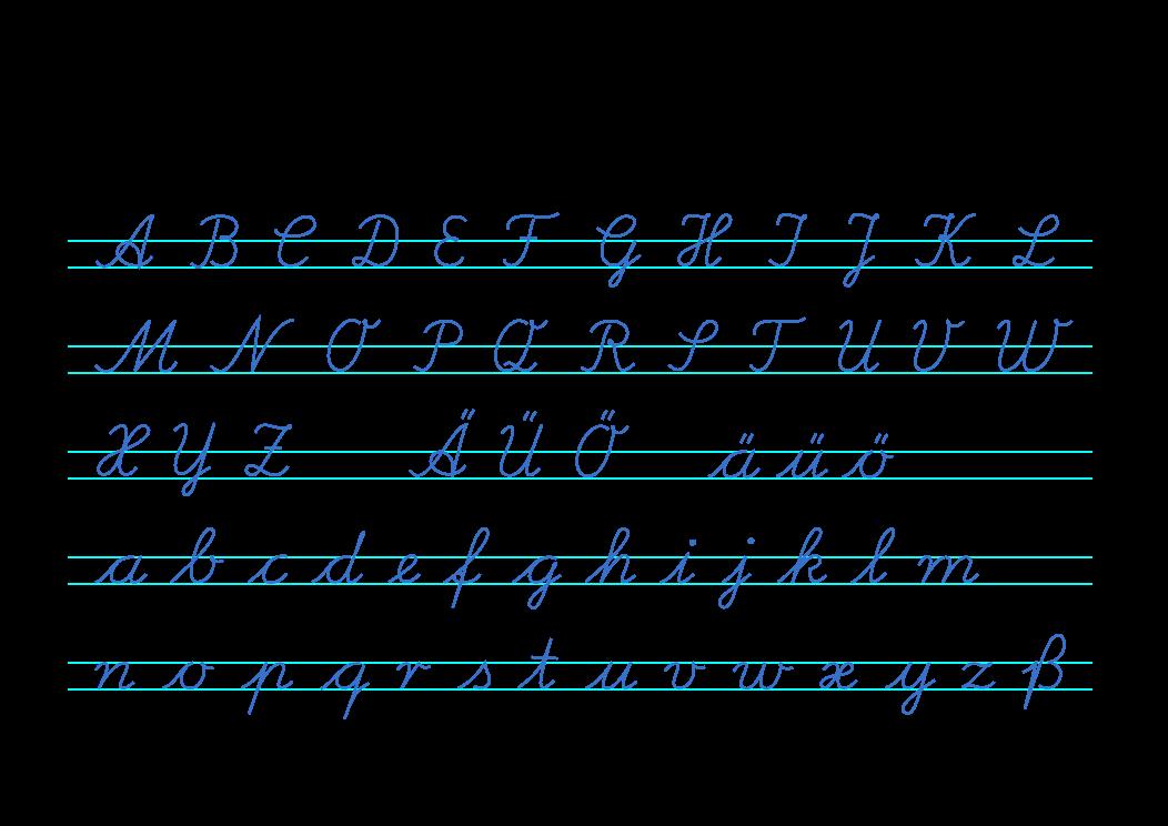 Lateinische Ausgangsschrift 1953 plain - Ausgangsschrift – Wikipedia ...