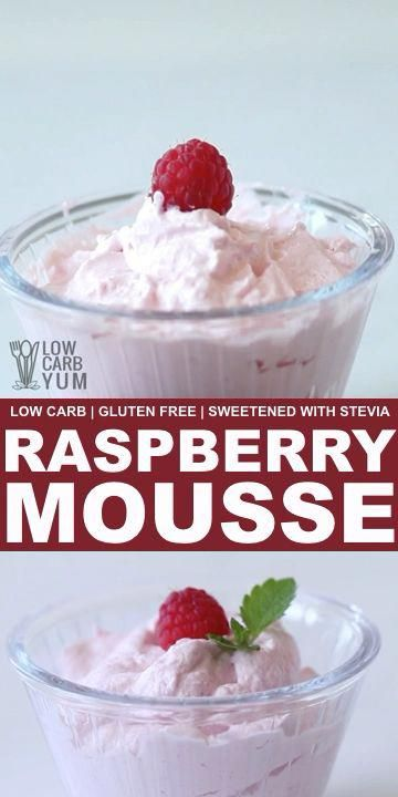 A light and fluffy low carb raspberry mousse recipe. This delicious sugar free mousse is sweetened with stevia and makes a great pie filling. // low carb yum recipes // low carb recipes desserts // low carb dessert recipes easy // low carbs recipes // healthy recipes desserts // #lowcarb #recipes #glutenfree #lowcarbdesserts #lowcarbrecipes #mousse #healthydesserts #GoodLowCarbMeals