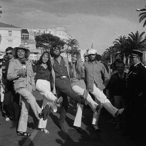 Jack Nicholson, Peter Fonda, and Dennis Hopper at Cannes