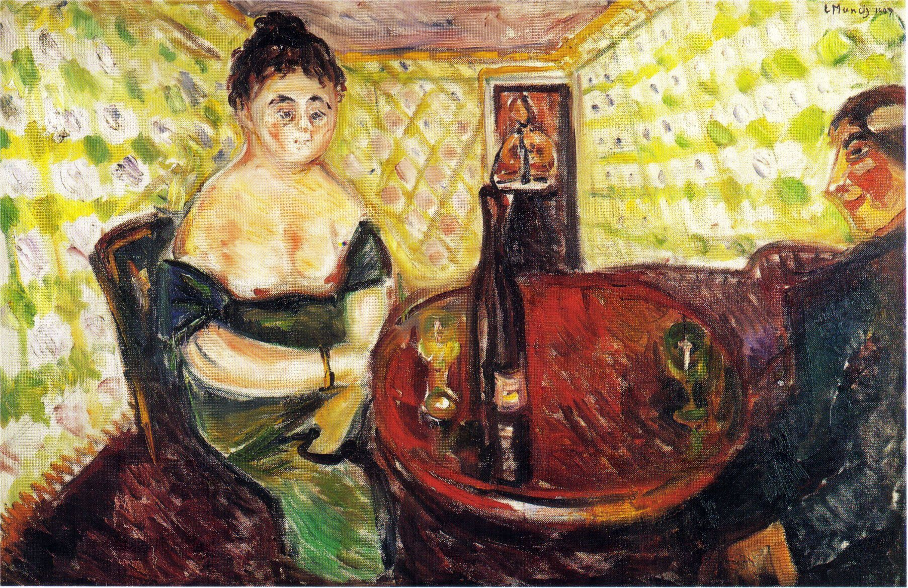 Edvard Munch - Brothel Scene for Sweet Madel  From the Series The Green Room
