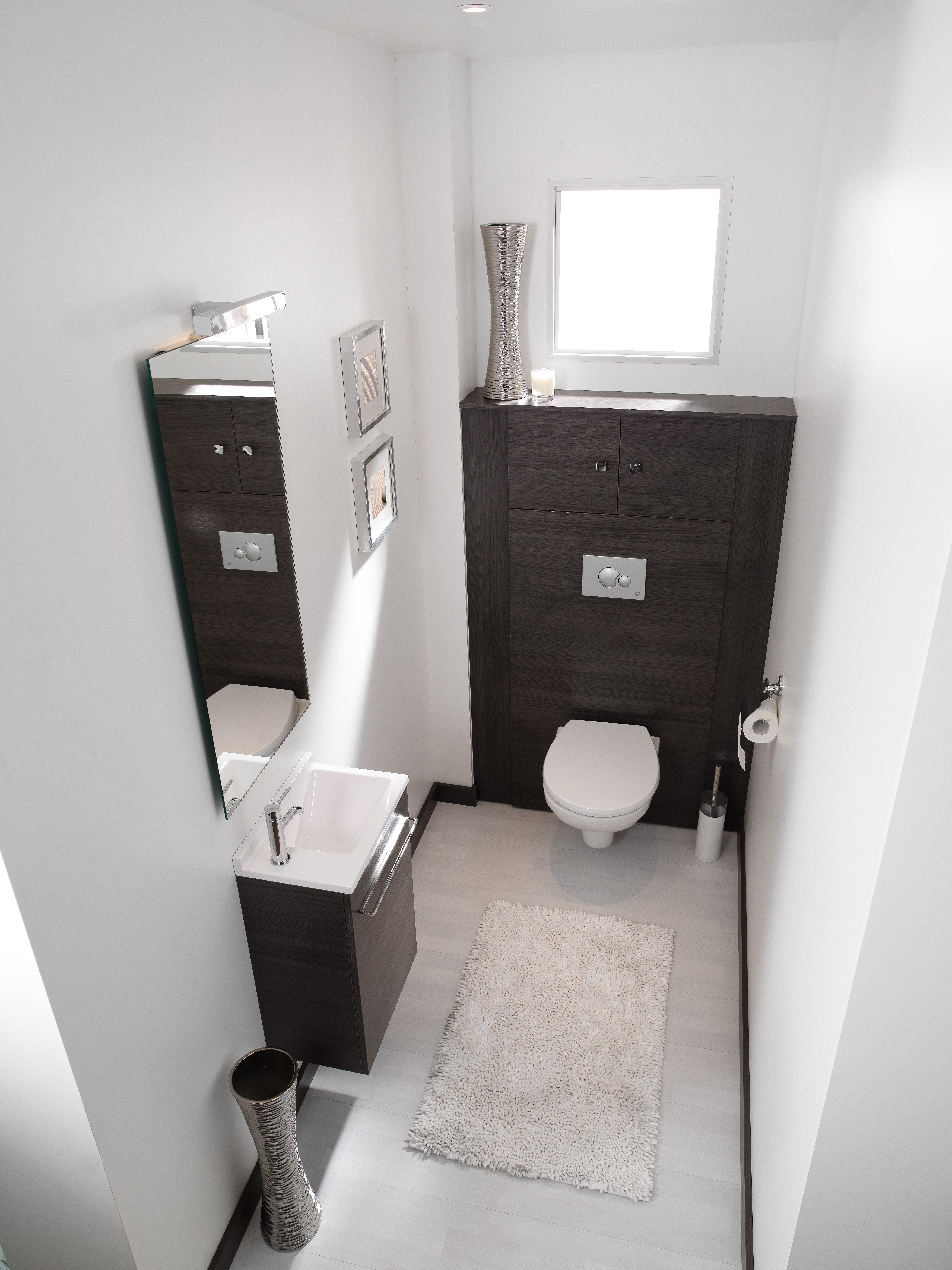 Espace Toilettes Ambiance Bain Meuble Pour Wc Suspendu Lave Mains Meuble Wc Suspendu Idee Salle De Bain Meuble Wc