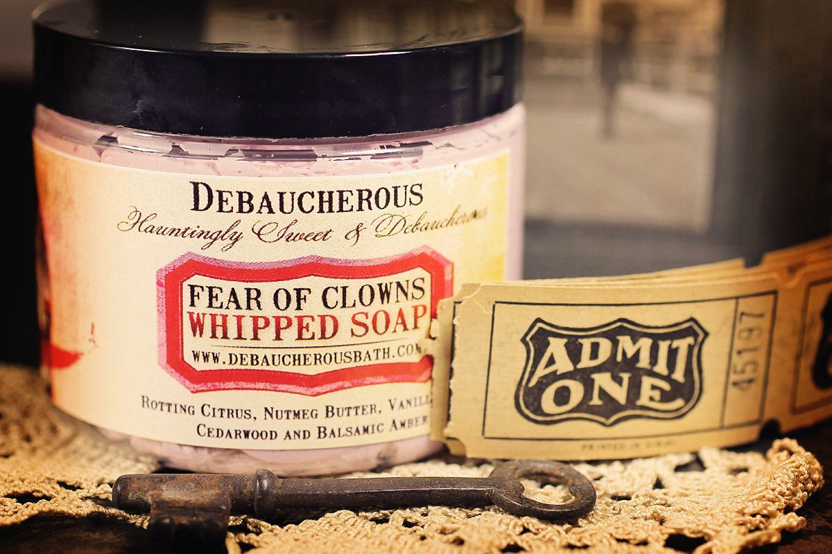 Fear of Clowns Whipped Soap
