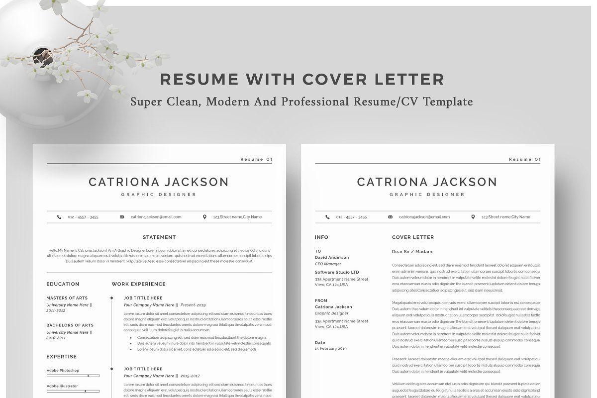 Resume Template Cv Clean Resume Template Unique Resume Template Infographic Resume