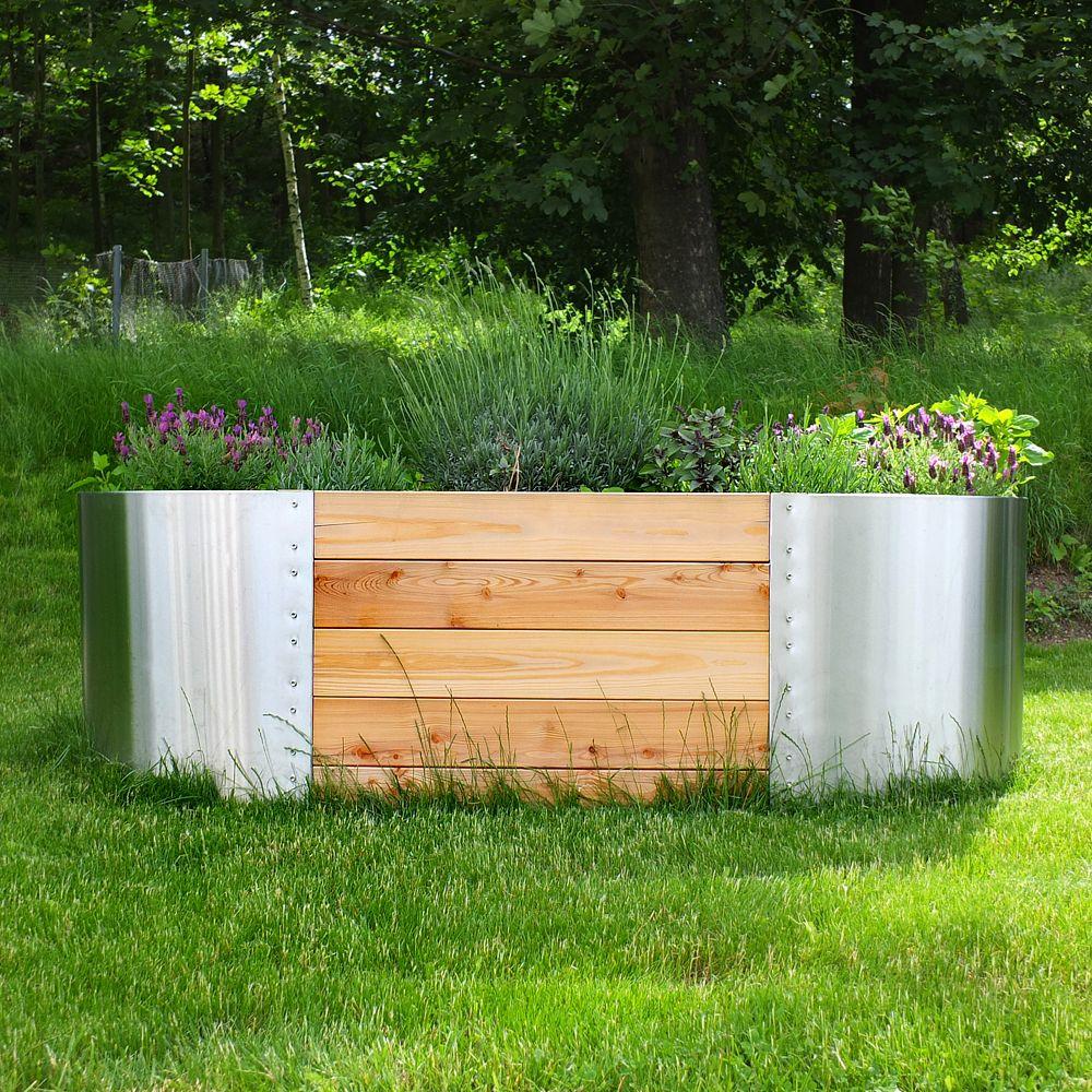 Exklusives Hochbeet Aus Edelstahl Hochbeet Pflanzen Garten